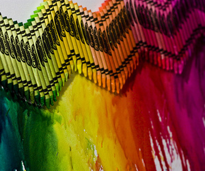 crayon, rainbow, and art image