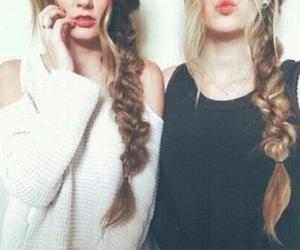 besties, hair, and best friend goals image
