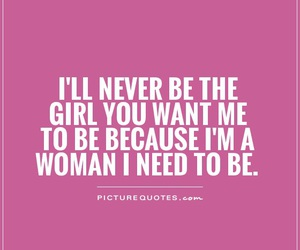 quote, girl, and woman image