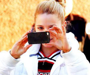 dianna agron, cheerio, and glee image