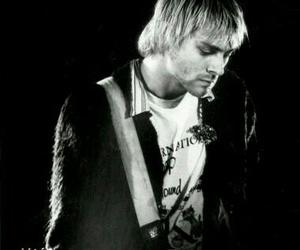 black and white, kurt cobain, and music image