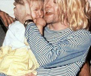 dad, frances bean cobain, and kurt cobain image