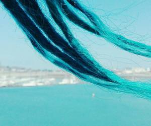 blue, dreads, and ocean image