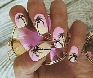 nails, summer, and pink image