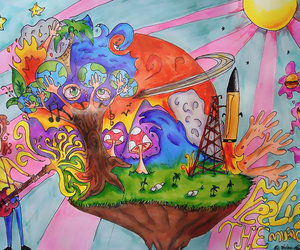 psychedelic, art, and drawing image