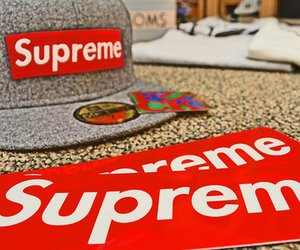 caps, dope, and supreme image