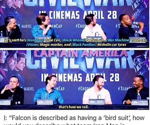 Avengers, falcon, and funny image