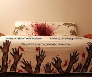 bed, funny, and zombie image