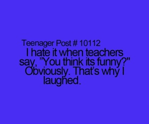 funny, school, and laugh image