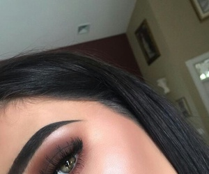 eyebrows, makeup, and highlighter image