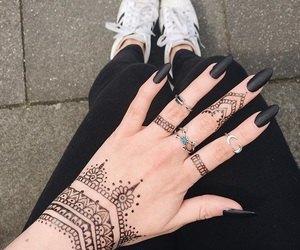 adidas, black, and henna image
