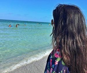 beach, florida, and hair image