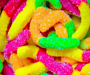 gummies, worms, and sour image