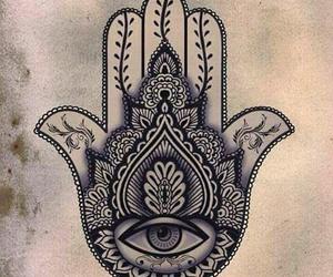 hamsa, drawing, and eye image