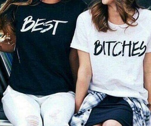 best friends, bitch, and bff image