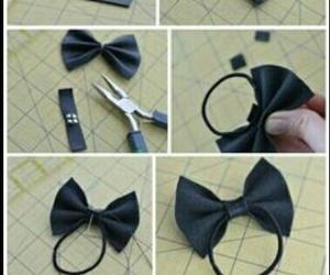 diy, bow, and hair image
