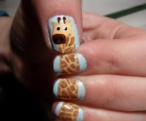 nails, giraffe, and animal image