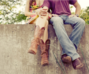love, couple, and boots image