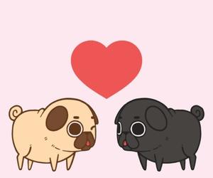 pug, cute, and love image
