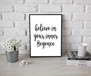 black and white, etsy, and beyonce quote image