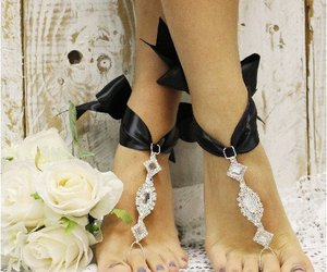 glamorous, lace, and footless image