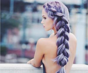 colorful hair, fashion, and hairstyle image
