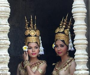 angkor wat, apsara, and Cambodia image