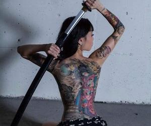 tattoo, sword, and japan image