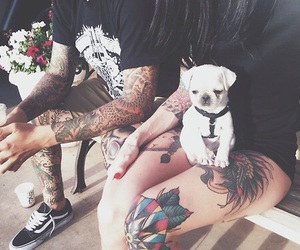 tattoo, dog, and couple image