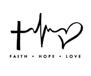 love, hope, and faith image