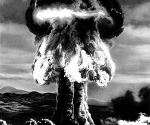 atom bomb and explosion image