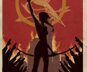 the hunger games, katniss, and mockingjay image