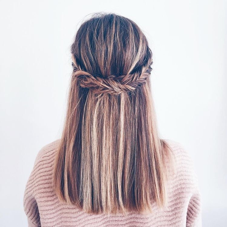 braid, brown, and color image