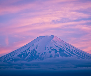 clouds, colored, and fujisan image