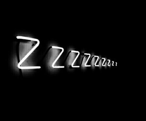 aesthetic, black and white, and sleep image