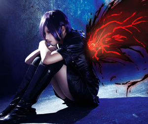 anime cosplay, tokyo ghoul cosplay, and cool cosplay girl image