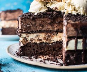 ice cream, cake, and chocolate image