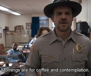 stranger things, coffee, and quotes image