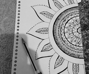 book, doodles, and drawing image