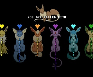undertale, pokemon, and eevee image