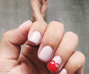 manicure, nail art idea, and nail art image