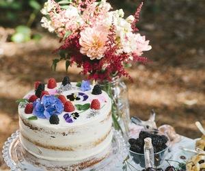festive, fruit, and layer cake image
