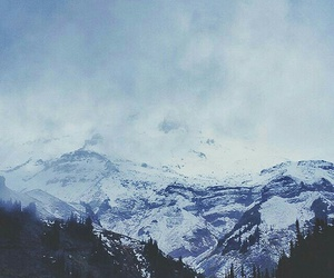 snow, mountains, and wallpaper image