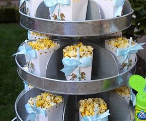blue, horse, and popcorn image