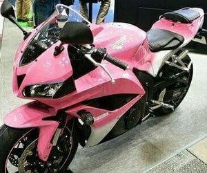 pink, motorcycle, and girly image