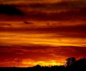 evening, sky on fire, and red clouds image
