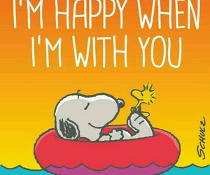 happy and snoopy image
