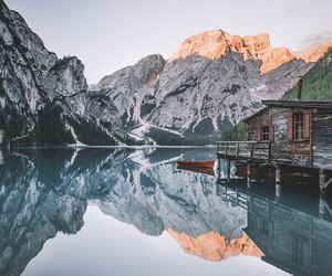 boat, explore, and mountains image