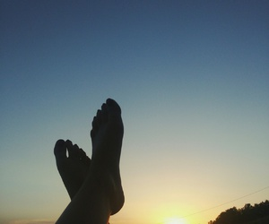 amazing, sunset, and foot image