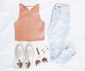 outfit, converse, and moda image